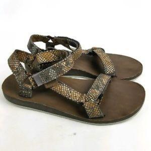 Womens Grey Snake Print Teva Sandal